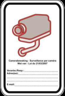 Wettelijk verplicht pictogram camerabewaking