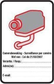 Gepersonaliseerde pictogram camerabewaking verkeersbord kopen België